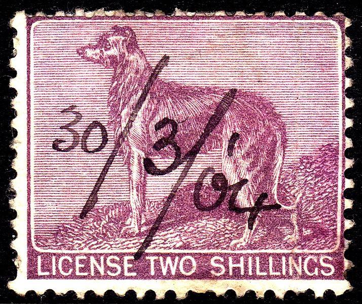 Dog Licence stamp