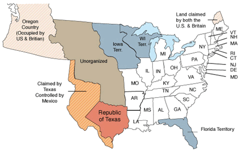 30 states participated in the 1850 census including the new states of Florida, Iowa, Wisconsin, Texas, and California. Participating territories included Minnesota, New Mexico, Oregon and Utah.
