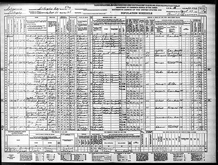 Joseph Barbera, the co-founder of Hanna-Barbera animation studios, which created many beloved cartoons including Tom and Jerry and The Flintstones, listed as an artist at a picture studio in the 1940 US Census.