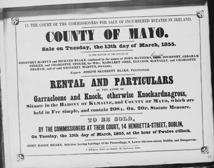 Rental and particulars of the land of Garracloone and Knock in County Mayo