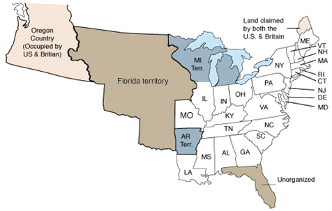 24 States participated in the 1830 census, including the new state of Missouri.  The territories of Arkansas, Michigan, and Florida also participated.
