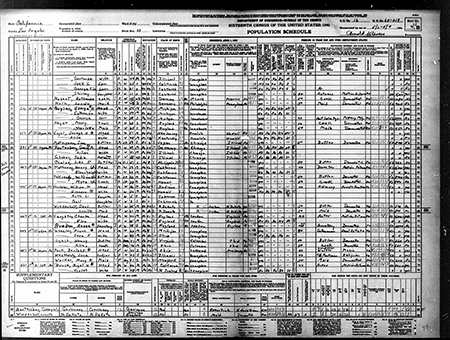 Shirley Temple in the 1930 census living with her family at the age of 12.